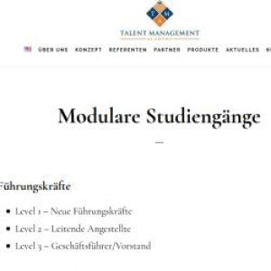Modulare Studiengänge