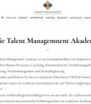 Die Talent Management Akademie