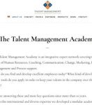 The Talent Management Academy