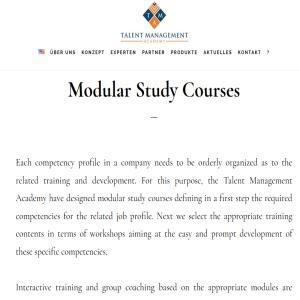 Modular Study Courses