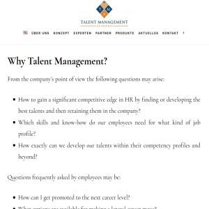 Talent Management Consulting