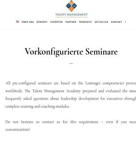 Pre-configured Seminars