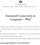 Emotional Connectivity in Companies – Why?