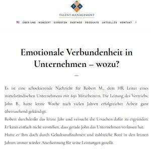 Emotionale Verbundenheit in Unternehmen – wozu?