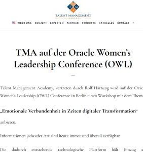TMA at the Oracle Women's Leadership Conference (OWL)