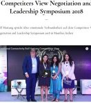 Competiters View Negotiation and Leadership Symposium 2018