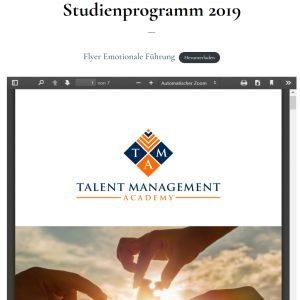 Emotionale Führung – Studienprogramm 2019