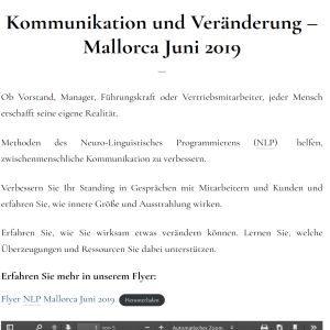 Kommunikation und Veränderung – Mallorca Juni 2019